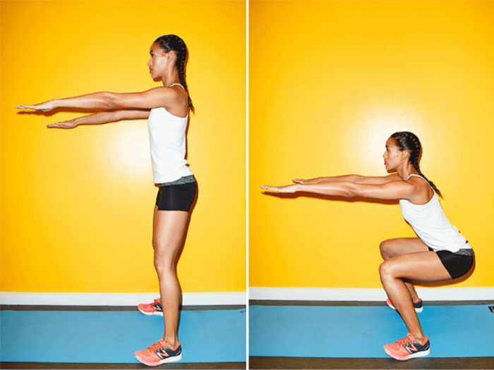 the basic squat exercise