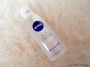 nivea cleansing water, not alcohol