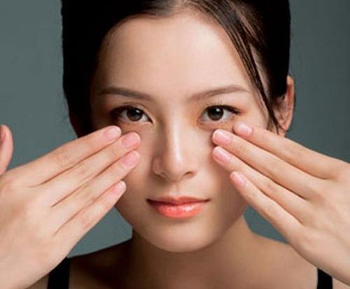 step 3: massage the eyes