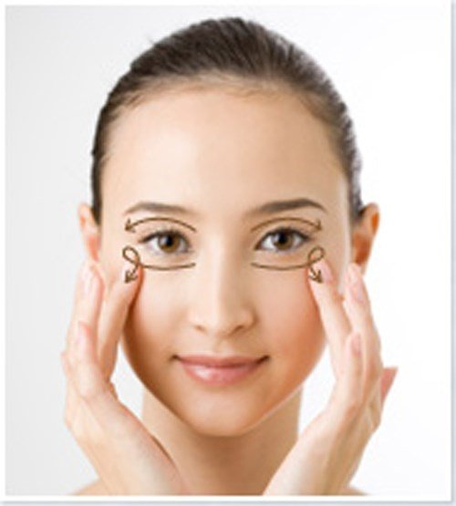 korean facial massage for eye cream
