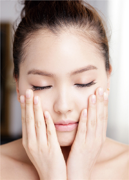 french facial massage with lotion, mask and mineral level