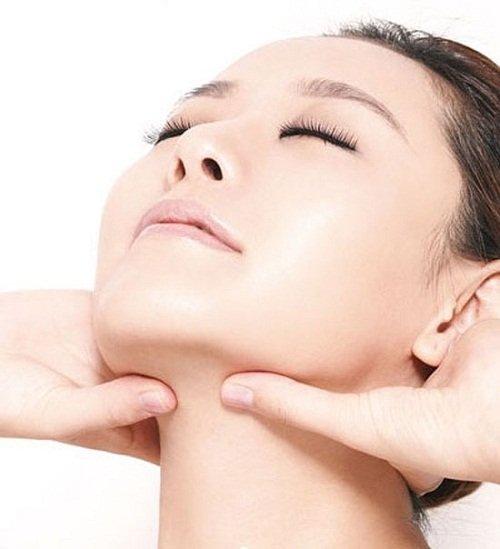 massage the neck area