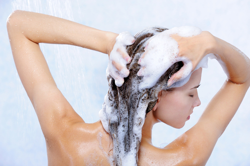 head massage while washing your hair
