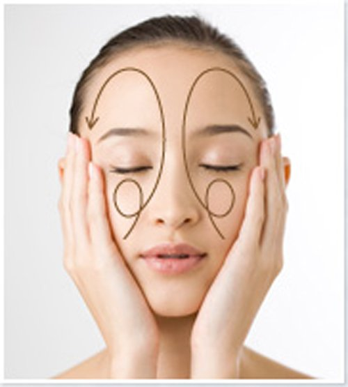 korean facial massage with serum