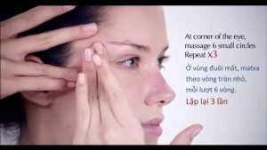 eye massage combined with eye cream