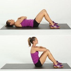 động tác gập bụng giảm mỡ bụng hiệu quả
