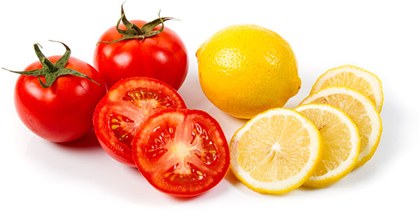 tomatoes and lemon juice reduce dark circles effectively