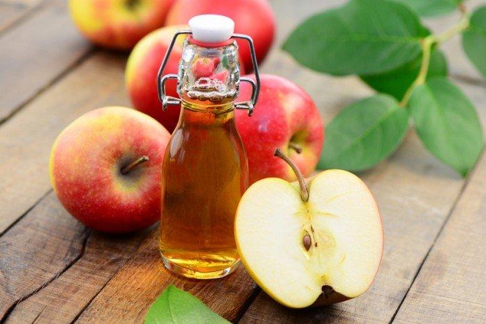 chanh, táo và dấm táo lấy lại vóc dáng sau khi sinh