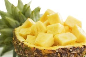 pineapple - contains antioxidant to help radiant skin