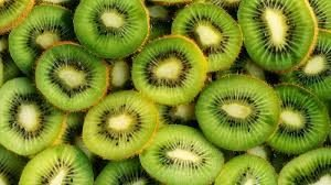 kiwi - contains vitamin c to bright and smooth skin